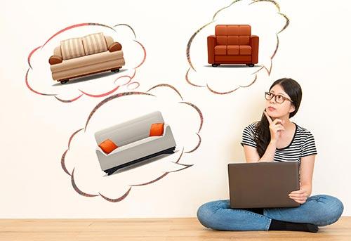 思考如何購買沙發